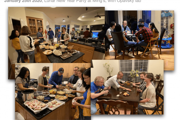 Xie and Opavsky Labs celebrate the 2020 Lunar New Year